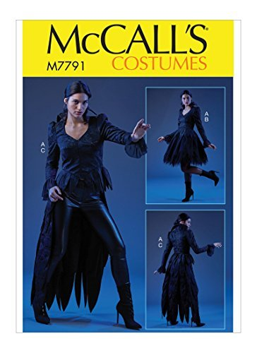 McCall's Patterns M7791A5 Women's Gothic Vampire Halloween Costume Sewing Pattern, Sizes 6-14 ()