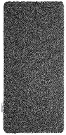 Hug Rug Charcoal - Shadow Grey With A White Fleck Dirt Trapper Door Mat Runner 65 x 150cm