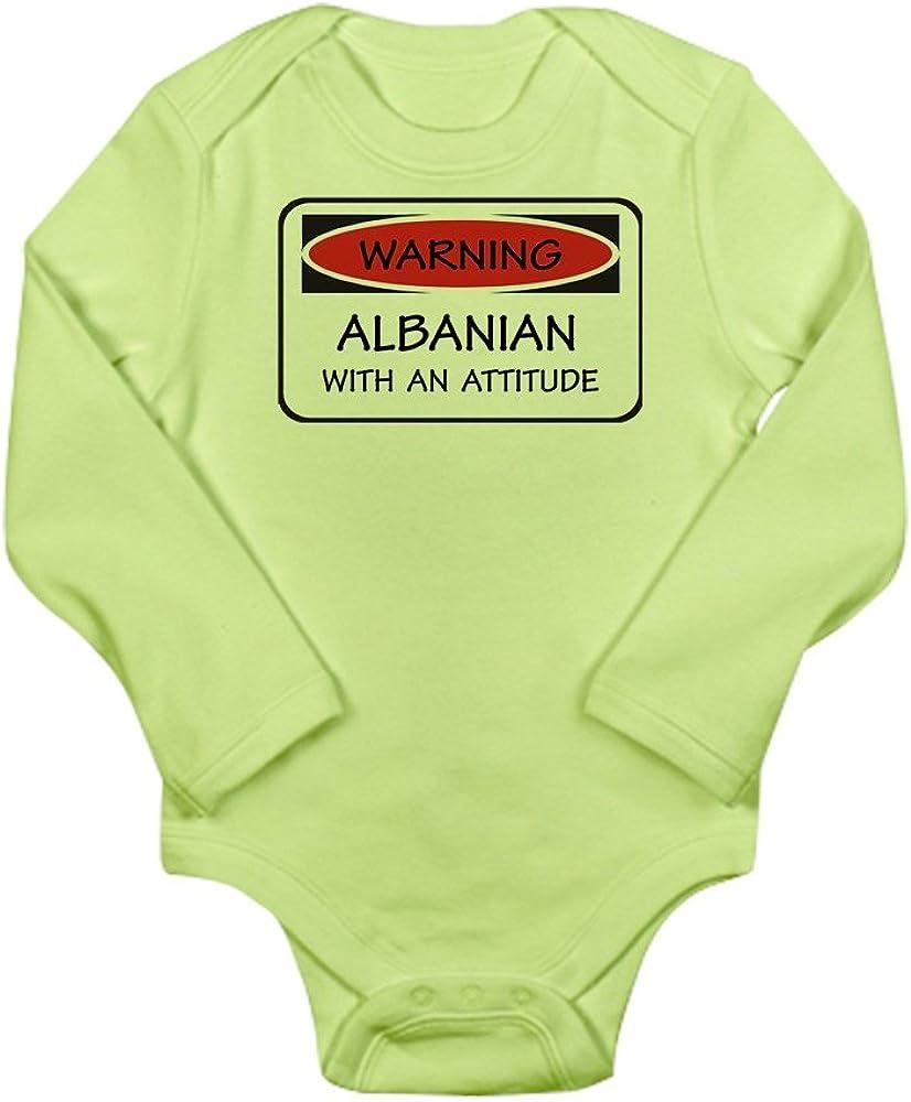 CafePress Attitude Albanian Long Sleeve Infant Baby Bodysuit