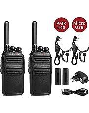 Radioddity GA-2S PMR Walkie Talkie Set 3km bereik licentievrije professionele radio oplaadbaar Walki Talki, 2-pack