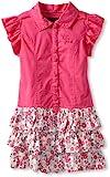 Calvin Klein Girls 2-6X Dress With Ruffles In Skirt, Pink, 5 image