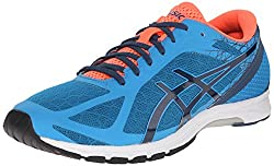 ASICS Men's GEL DS Racer 11 Running Shoe, Methyl Blue/Ink/Flash Coral, 6 M US