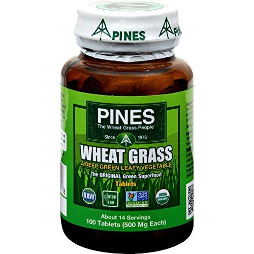 Pines International Organic Wheat Grass - 500 mg - 100