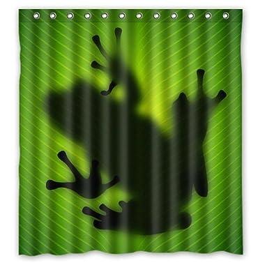 Custom Waterproof Fabric Bathroom Shower Curtain Frog 66 (w) x 72 (h)