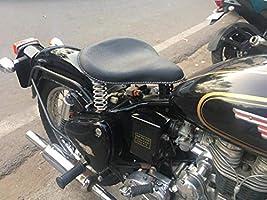 Noir Sahara Seats Royal Enfield Classic 350//500 Sangle de r/éservoir//Couvercle de r/éservoir en Cuir