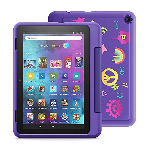 """Fire HD 8 Kids Pro tablet, 8"""" HD (Doodle) with Kids Headset + Sleeve + Screen Protector"""