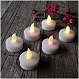 TRIXES 12 X Flickering LED Tea Lights Including Batteries Candles Decoration Accessories