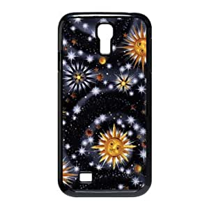 Personalized Aesthetic Samsung Galaxy S4 I9500 Hard Case Cover with Cute Sun Moon Stars Space Nebula Case Perfect as Christmas gift(3)