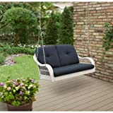 """Better Homes and Gardens Sturdy Steel with Cushions, 2-Person Outdoor Swing,Durable, Powder-Coated, Carefree Finish Great Complement to Sunroom Or Any Outside Area,"""