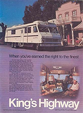 Amazon com: 1976 Kings Highway RV Motorhome Ad Dodge Xplorer