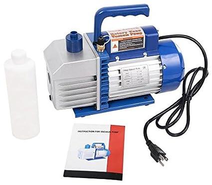 3.5CFM Rotary Vane Deep Vacuum Pump 1//4HP AC Air Tool R410a R134 HVAC Refrigeran