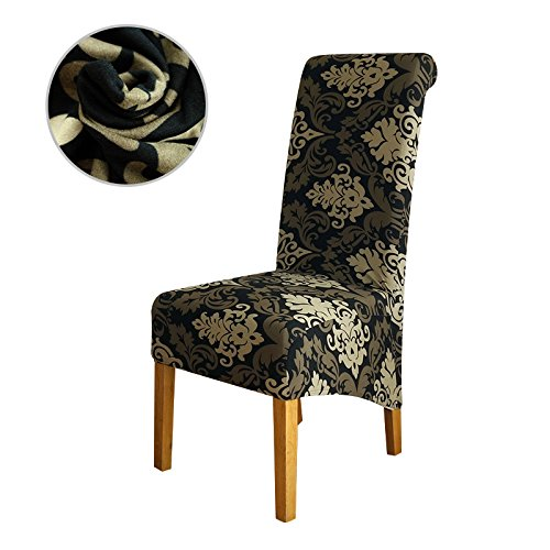 Chair Cover XL Size Long Back Europe Style Seat Universal Resterant Hotel Party Banquet Slipcpvers Home Decoration Color 28 XL size by Chair Cover