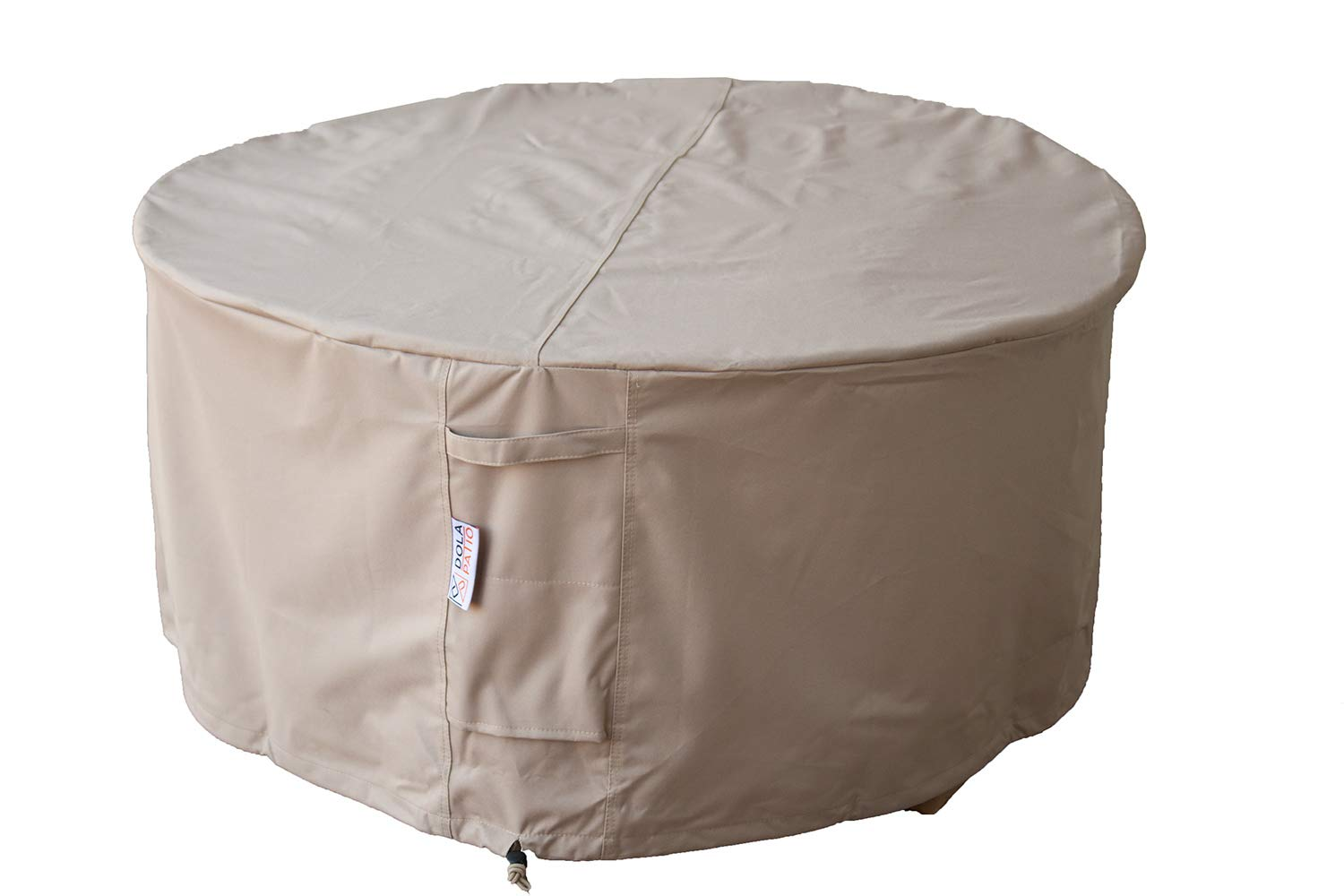 Dola Patio Fire Pit Cover Round All Weather Protection Durable & Water Resistant Made with Premium Quality 100% Polyester Beige Fabric from (44'' x 24''H) by Dola Patio