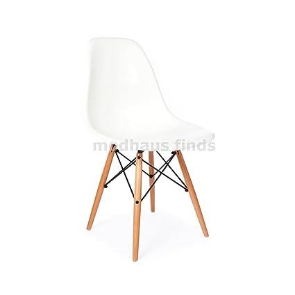 amazon com modhaus mid century modern eames style dsw white chair