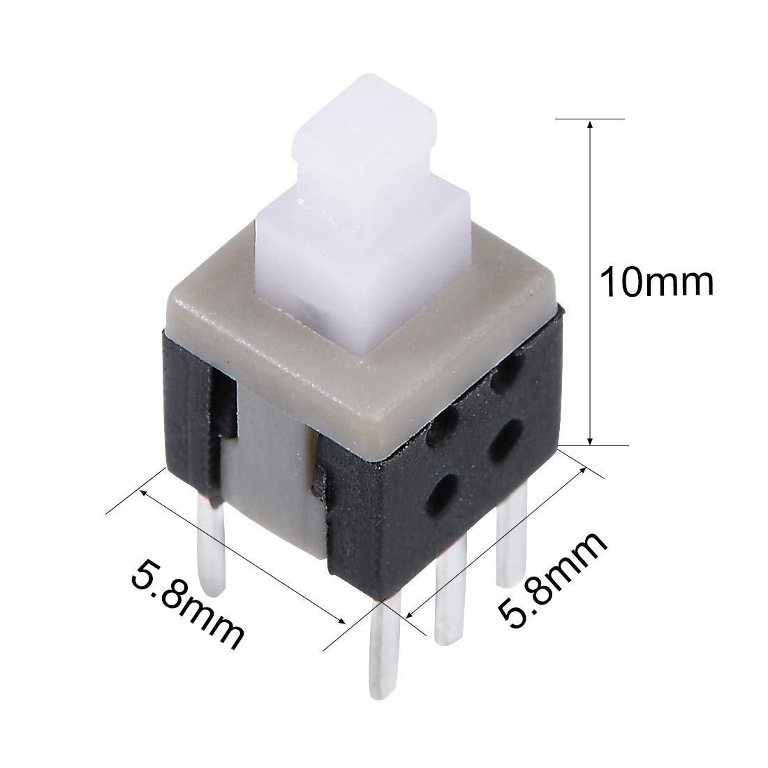 55pcs 6 Pins Dpdt Latching Power Micro Push Button Switches 85x85 Large 10mm Switch Red 85x85mm Uxcell A14061000ux0467