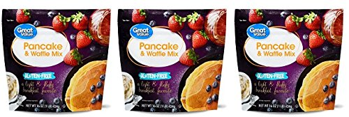- Great Value Gluten-Free Pancake & Waffle Mix, 16 oz, Pack of 3