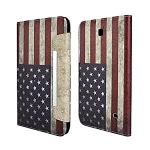 GJY The Stars and the Stripes Pattern PU Leather Full Body Case with Stand for Samsung Galaxy Tab 4 8.0 T330