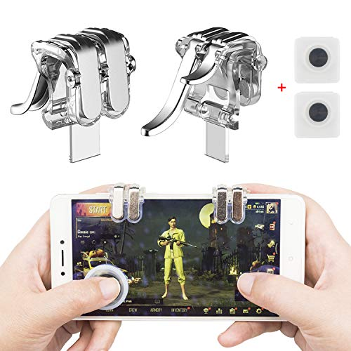 Mobile Game Controller, EAONE Aim Triggers and Sensitive Shoot Joysticks for PUBG/Rules of Survival/Knives Out Fits iOS and Android 4.7-6.44 inch Cellphone (Phone Screen Went Black And Wont Turn On)