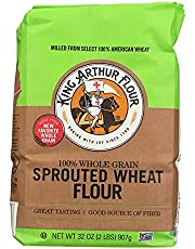 King Arthur Sprouted Wheat Flour, 2 Pounds (Pack of 6)