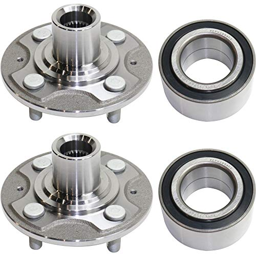 Wheel Hub and Bearing For 2001-2005 Honda Civic DX LX EX GX HX Front Left and Right FWD With Kit