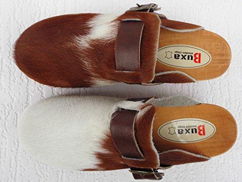 13 Lusy011 BRAUN HOLZ Schweden Leder Gr Echt Poland bei Pantolette 40 19 in Kuhfell BUXA 90 CLOGS 07 Made 5w8xTHnnq