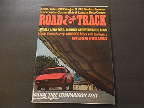 Road Track Apr 1976 Jensen Interceptor; Lancia Beta; Volvo 265