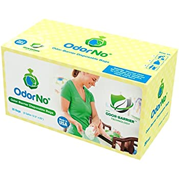 OdorNo ADU-2-4025 Odor-Barrier Disposable Bags; 2 Gallon Capacity; Green; Case of 250 Bags with 10 Boxes of 25 Bags Each; Biodegradable and Compostable; Made of FDA-approved plastics Eco-Friendly