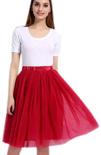 Tutù Ruffle Tulle Gonna Strati Frilly Sottoveste 5 Tutu Donna w0ZnXO8kNP