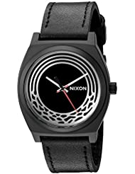 Nixon Mens Star Wars Kylo Quartz Stainless Steel and Leather Casual Watch, Color:Black (Model: A1069SW2444-00)
