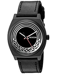 Nixon Unisex The Time Teller Leather - The Star Wars Collection Kylo Black