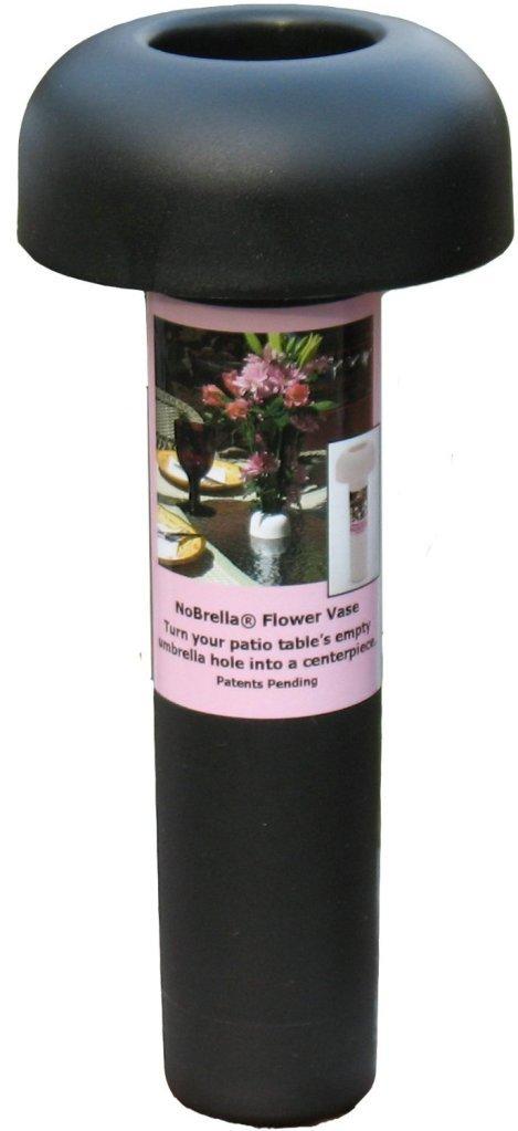 Amazon.com : NoBrella Flower Vase Patio Table Umbrella Hole Insert, Black :  Garden U0026 Outdoor