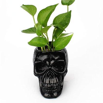 512b31428764 Amazon.com: Bestmemories Black Skull Storage Pen Holder Horror Funny ...