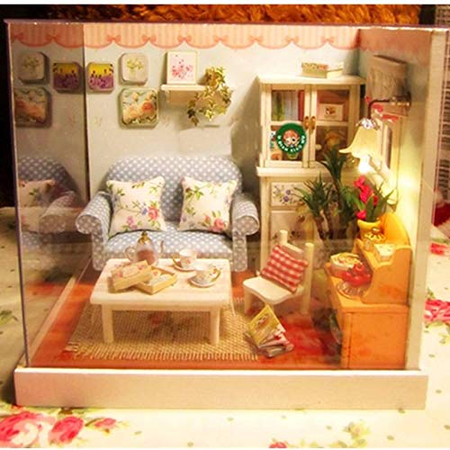 1:32Dollhouse Miniature Kit with Cover Music LED Gather a Happy Moment - Toys Doll House & Miniature - 1 x Candy Cat Dollhouse Kit