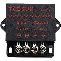 EPBOWPT DC 12V 24V to DC 5V 10A, 5V 5A,12V 5A, 10A Power ConverterPower Adapter (12/24V to 5V 3A, 12/24V to 5V 3A Converter)