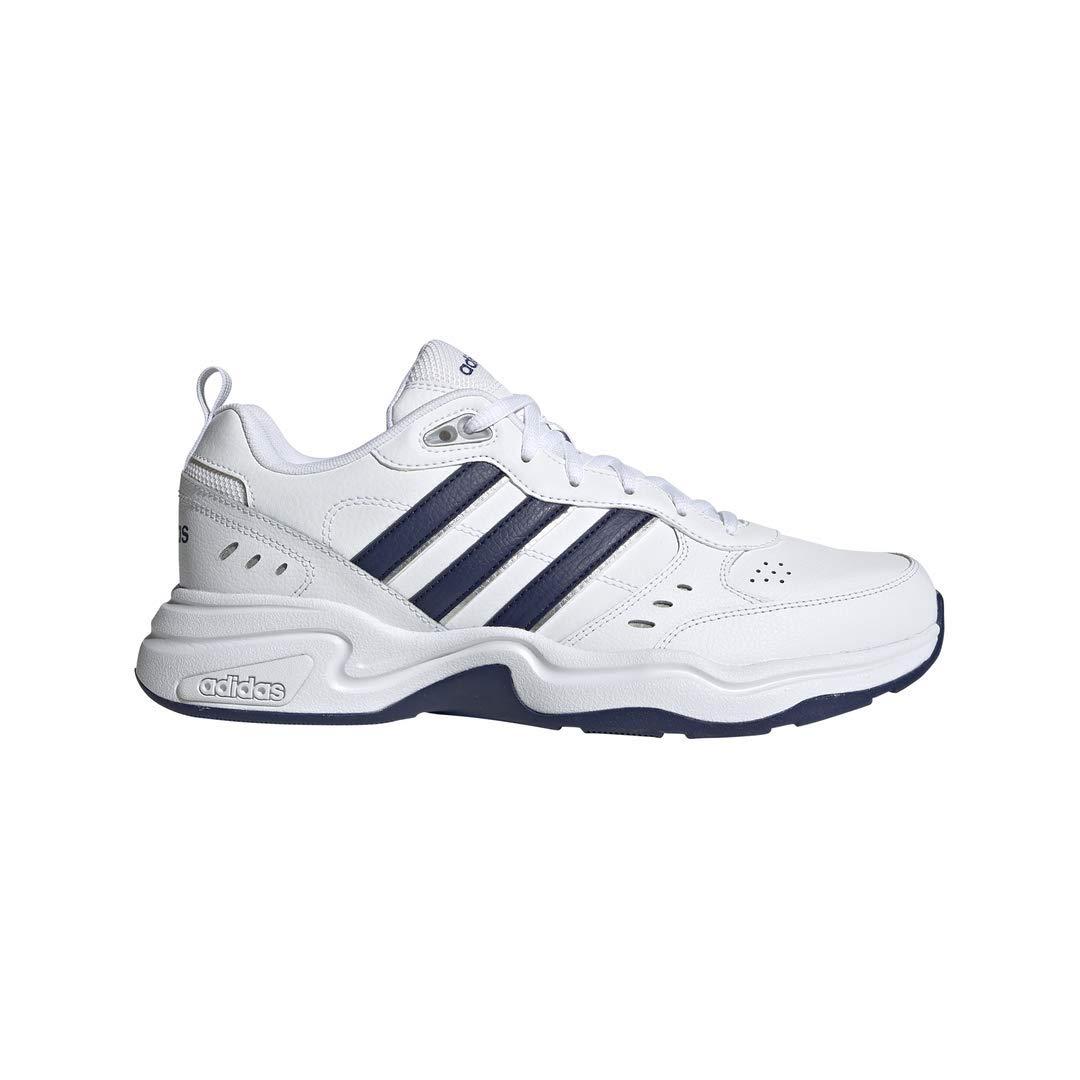 adidas Men's Strutter Cross Trainer, White/Black, 12.5 M US