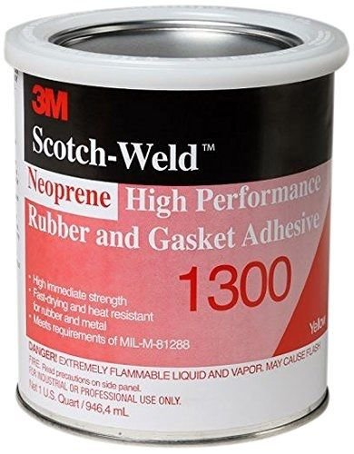 3M 1300 Yellow Neoprene High Performance Rubber and Gasket Adhesive, 1 Quart