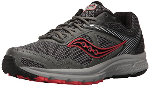 Saucony Men's Cohesion TR10 Trail Runner, Grey/Black, 9 M US