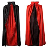 TRADERPLUS Unisex Children Christmas Halloween Witch Party Reversible Vampires Cape Cloak Magician Costume Accessories Props (Collars, 90 cm)