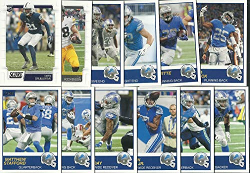 2019 Panini Score Football Detroit Lions Team Set 12 Cards W/Drafted Rookies ()