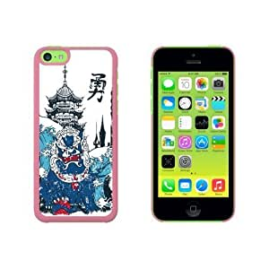 Chinese Dragon Waves and Pagoda Snap On Hard Protective For SamSung Galaxy S6 Phone Case Cover - Pink