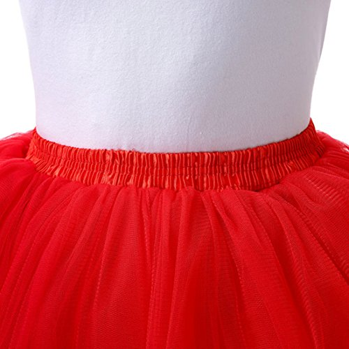 lastique Ballet Jupon Danse Jupe 60 en Taille Tutu Femme Skirt Tutu 95 Feoya Tulle Courte Rouge CM unique Spectacle wSnBq6xH4