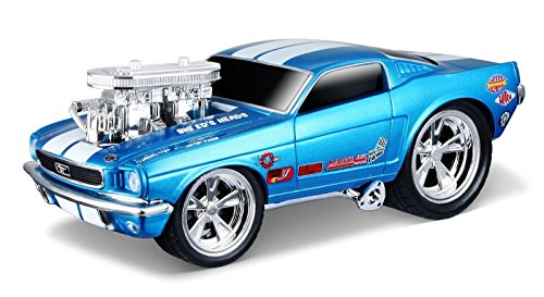 NEW 1:24 DISPLAY MAISTO MUSCLE MACHINES - BLUE 1966 FORD MUSTANG GT Diecast Model Car By Maisto