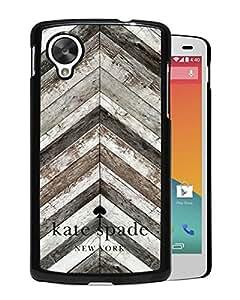 Unique Designed Kate Spade Cover Case For Google Nexus 5 Black Phone Case 87