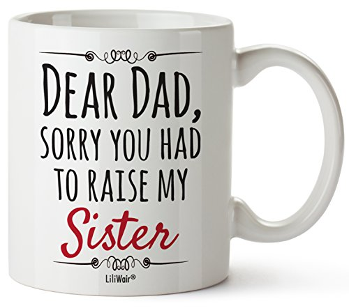 Gift For Dad From Daughter Son, Dad Chritmas Birthday Gift Coffee Mug, Best Cool Happy Funny First Mugs For Father, Dads Daddy Stepdad Stepfather Bonus Step Dads Presents Cup From Kids And Daughters