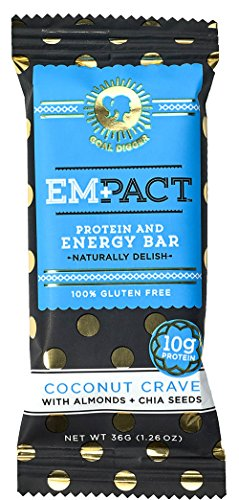 Bar Amazon (Empact Bars - Coconut Crave - 10 Pack - Amazons #1 Ranked All Natural, NON-GMO, Gluten Free Protein and Energy Bar for Women)