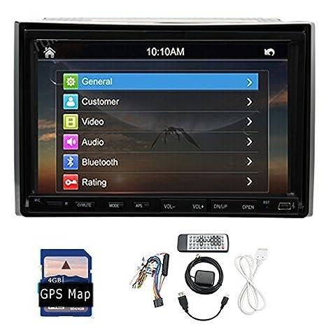 Radio de 2 DIN con navegación GPS, TV, Bluetooth, reproductor de
