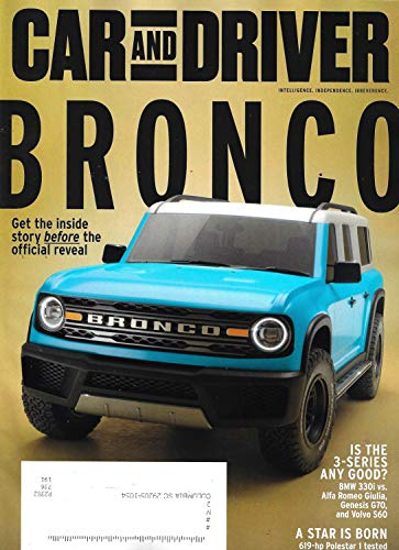 CAR AND DRIVER Magazine (February, 2020) FORD BRONCO IS BACK