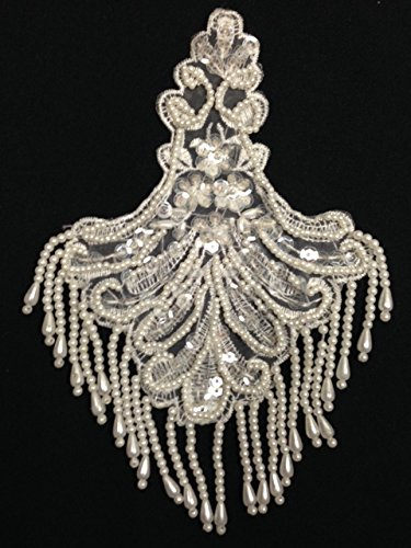 2 Pieces, Sequined and Fringe Beaded Appliqué, Great for Costumes,