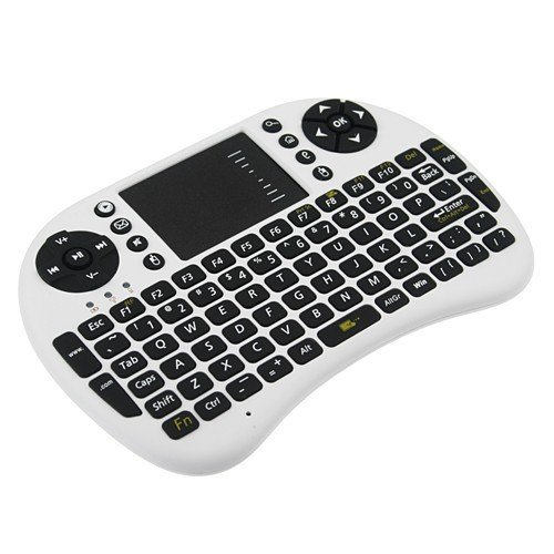 - Calvas Air Mouse 92 Key Mini Portable 2.4GHz QWERTY Keyboard Mouse Touchpad Remote Game Controller Wireless Keyboards AAA battery - (Color: Black)
