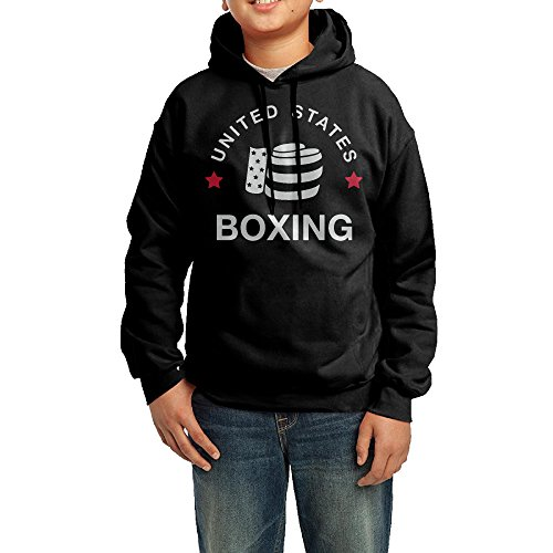 Price comparison product image Boys 2016 SUMMER OLYMPICS USA BOXING FULL CIRCLE Hoodie Black